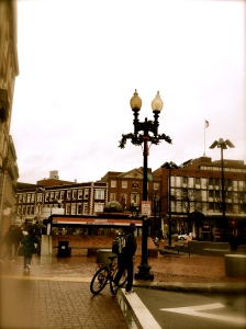Gloomy Harvard Square